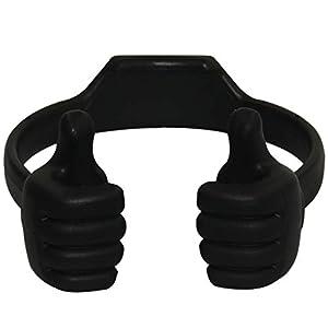 Honsky 3362525 Universal Flexible Thumb Smartphone Tablet Mount Holder – Black