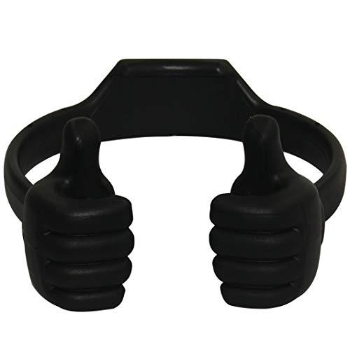 Honsky 3362525 Universal Flexible Thumb Smartphone Tablet Mount Holder - Black