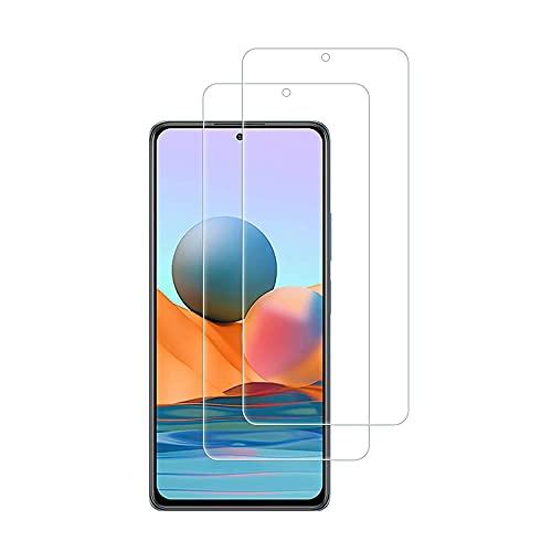 [2 unidades] para Samsung Galaxy A52 protector de pantalla de vidrio templado (compatible con la funda) [HD transparente]