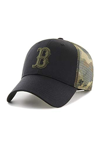 47Brand MVP Trucker Cap Boston RED SOX B-BCKSW02CTP-BK Schwarz Camo, Size:ONE Size