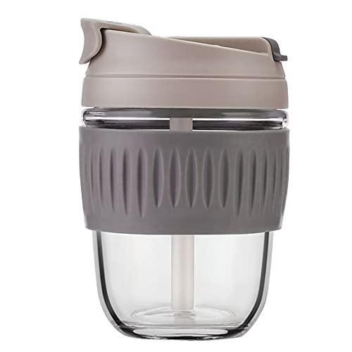 SOFIL Taza de café Reutilizable de Vidrio,Taza de café de Viaje ecológica,Vidrio de borosilicato - Funda de Taza térmica (350 ml / 500 ml)
