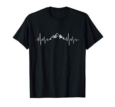Hiking Mountains Heartbeat Hiker Adventures T-Shirt