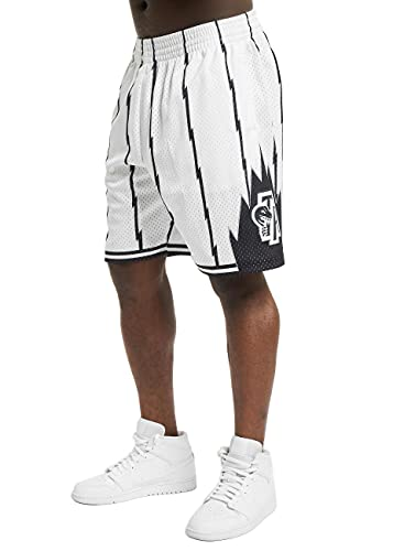 Mitchell & Ness Swingman Toronto Raptors - Pantalones cortos para hombre, Blanco, XL