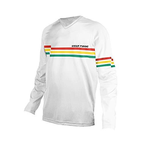 Uglyfrog Camisetas Hombre Manga Larga MTB Downhill Jersey Mountain Bike Ropa, Motocicleta Jersey Mountain Mountain Paño Grueso y Suave de Invierno Shirt ES19HSJFMZR11
