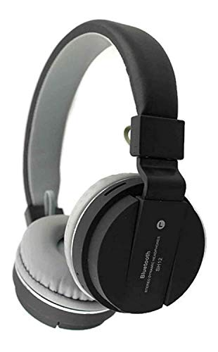SH-12 wireless headphones stretchable foldable with Bluetooth and inbuilt microphone and SD...