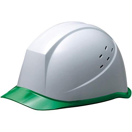 ミドリ安全 ヘルメット 作業用 PC製 クリアバイザー 通気孔付 ウインドフロー SC11PCLV RA3 UP ホワイト/グリーン