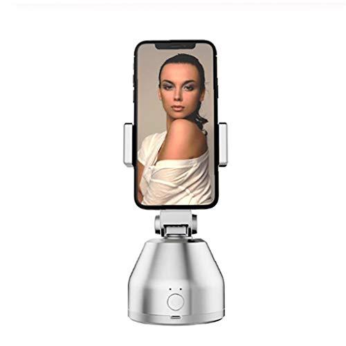 NorCWulT 360-Grad-Drehung Face Tracking Selfie Stock-Stativ Objektverfolgung Kamera Echtzeit-Standplatz-Videoaufzeichnung und Shooting Head