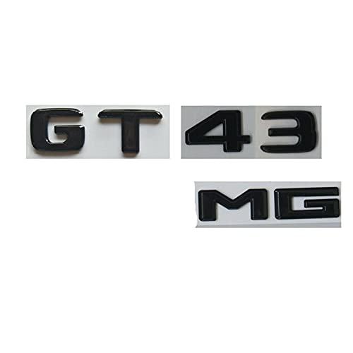 YFJLOVE Gli emblemi di Black Black Gloss Si Adattano a-Mercedes X290 per AMG GT 43 GT43 Coupé 2 ordini (Color : As Shown)