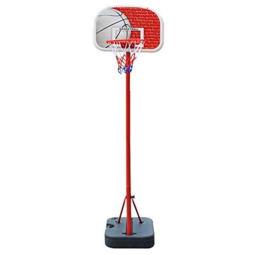 Tragbare Basketballbretter Kinderspielzeug Tragbare Basketball Box Haushalt Indoor Bewegliche Hebe Basketball Rack-Basketball Ständer Basketballbretter (Color : Red, Size : 1.40-1.90m)