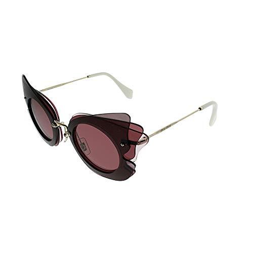 Miu Miu 0MU02SS VA50A0 63 Gafas de sol, Marrón (Brown/Pink/Violet), Mujer