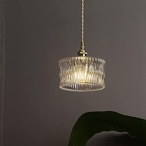Bkrred LED Interni Retro Industriale Lampadario Cristallo Moderno Hanging Lampadario di Illuminazione for Sala da Pranzo Scale di Lusso Nordic Lampada lampadario Letto Cucina E27