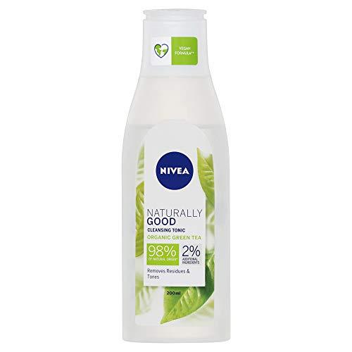 NIVEA Naturally Good Cleansing Tonic With Organic Green Tea to Remove Makeup & Impurities, 200 ml