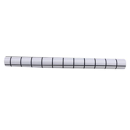 JIFeng - Alfombrilla antideslizante para cajón antideslizante, lavable, ajustable, multiusos, color blanco y negro