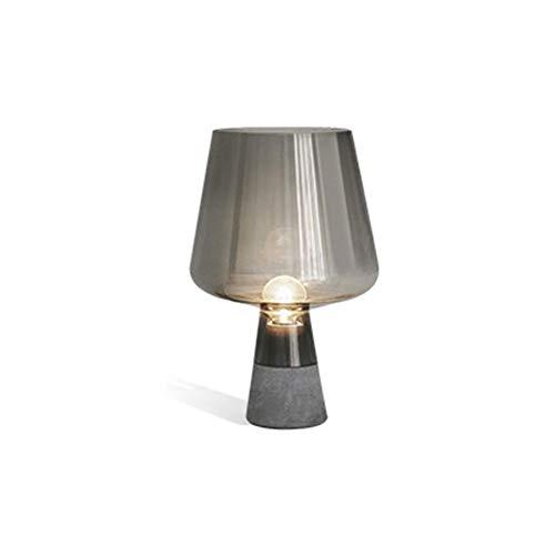 No band bedlampje, minimalistisch creatieve led-oogbescherming lamp, grijs glas, lezen, tafellamp nachtlampje, 25 cm x 38 cm 503