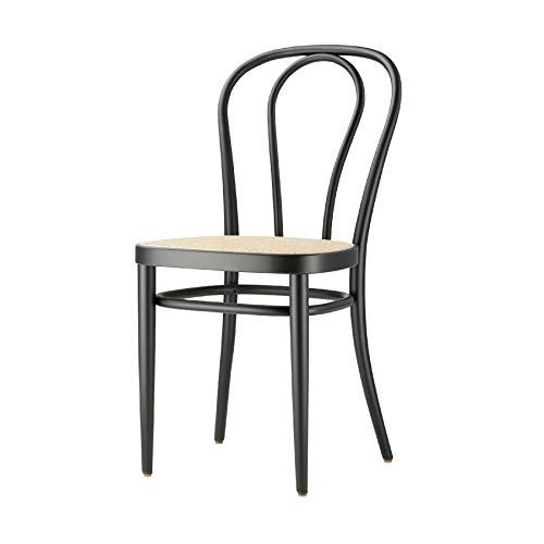 Thonet 218 Stuhl mit Wiener Geflecht 43 x 52 cm - schwarz