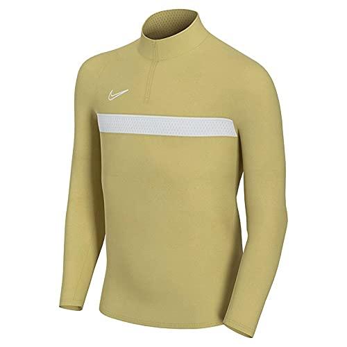 NIKE Y Nk DF Acd21 Dril Top Camiseta, Saturn Gold/White/White, 10/12 años Unisex niños