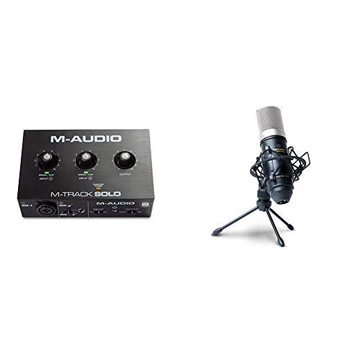 M-Audio M-Track Solo + Marantz Professional MPM-1000 - Interfaccia USB e Microfono - Pacchetto Completo per Registrazione, Streaming e Podcast