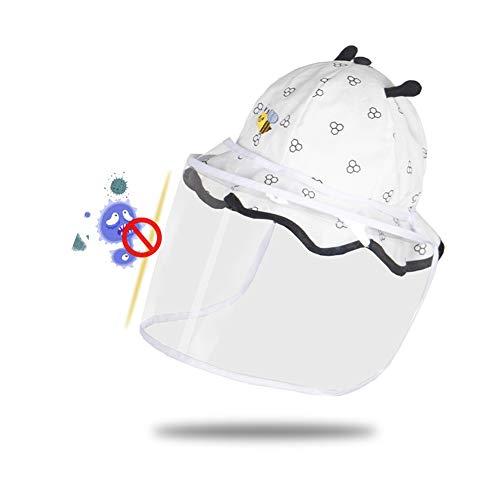 Baby stofdicht Anti-schuim Fisherman Hat, Zomer Thin Zon Cap verwijderbare beschermende Mask, Jongen en meisje Zonnescherm Cover voor tweeërlei gebruik Cap, een verscheidenheid aan stijlen,A,46