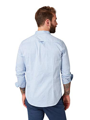 TOM TAILOR Herren Blusen, Shirts & Hemden Gemustertes Hemd Light Blue Oxford,M,15837,6000