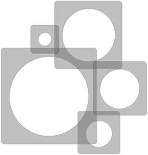 5 pcs Reusable Plastic Stencils // Circle DOT // 13.4