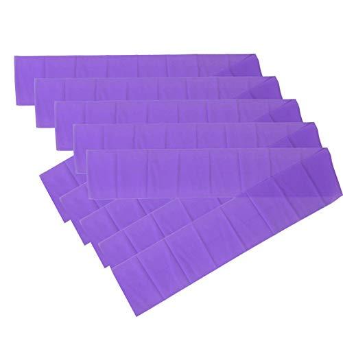 Shipenophy Estirador de piernas Yoga Stretch Strap 5pcs Asistencia de Yoga para Fitness y Culturismo(Purple)
