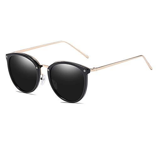 e-phoria Occhiali da sole Oval Cat Eye per Proprietà Fashionable Telaio nero/Lente di