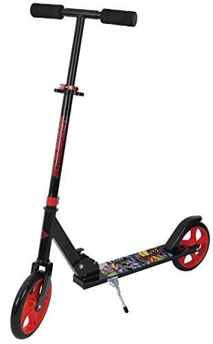 Schildkröt City Scooter Road Catcher, Ruedas 200m, Patinete de Aluminio, Plegable, para Niños +120cm de Altura, Adolescentes y Adultos, Diseño: Grafitti, 510203