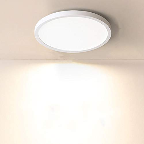 Yafido LED Deckenlampe Ultra Slim 18W 1620Lm UFO LED Panel 3000K Warmweiss Rund LED Deckenleuchte für Wohnzimmer Schlafzimmer Flur Büro Küche Küche Balkon und Esszimmer Nicht-dimmbar Ø18 cm