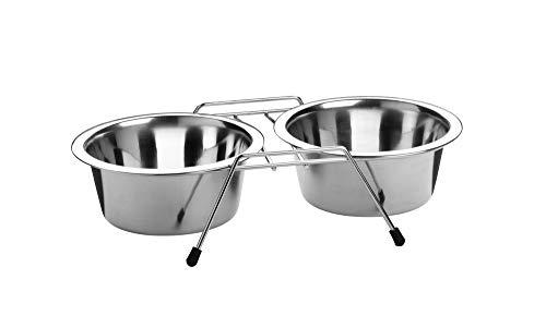 HUNTER Doppia ciotola in acciaio inox, ciotola per cibo rimovibile singolarmente, 2 x 250 ml
