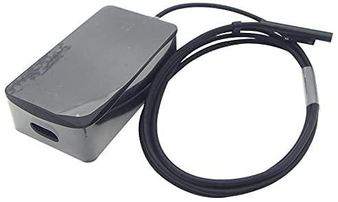 Adaptador de Corriente para computadora portátil de 15V 4A 65W con Cargador de computadora portátil USB 5V 1A Compatible con Microsoft Surface Pro4 Book A1706 Ultrabook