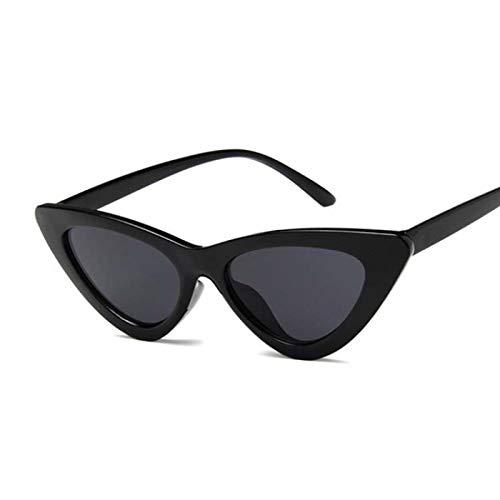 YOULIER Cateye Gafas de sol para mujer, ojo de gato pequeño, gafas de sol coloridas para mujer BlackGray