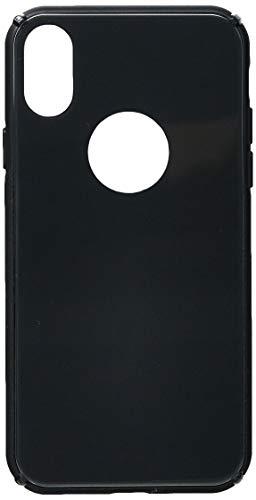 Capa Protetora Glass Case para iPhone X/ XS, iWill, Capa Anti-Impacto, PRETO