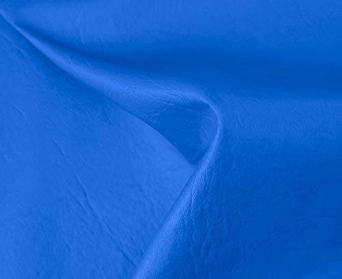 HAPPERS 1 Metro de Polipiel para tapizar, Manualidades, Cojines o forrar Objetos. Venta de Polipiel por Metros. Diseño Sugan Color Azul Ancho 140cm