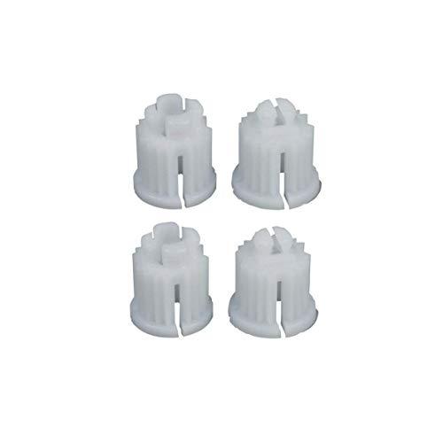 DL-pro 4x Rastbuchsen für Knebel-Innenoberteile 1/2 und 3/8 Zoll mit Vielzahn Achse Set 4-teilig
