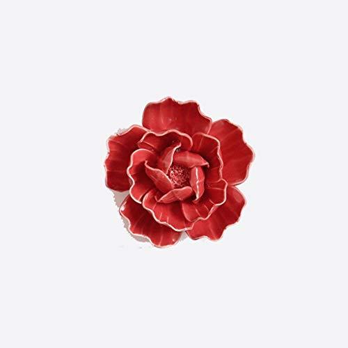Dekoration Keramik Blume Wanddekorationen Kreative Stereo Wanddekoration TV Hintergrund Wand Anhänger Wandschmuck Wanddekoration (Size : 8cm)