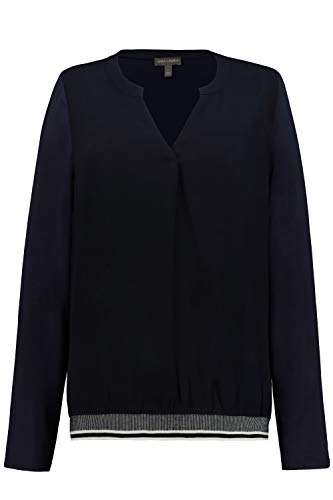 GINA LAURA dames, jersey geweven mix blouse