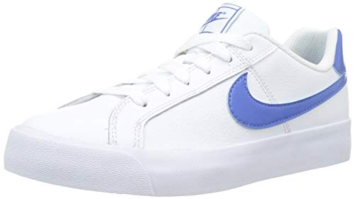 Nike Wmns Court Royale AC, Zapatillas de Tenis para Mujer, Multicolor (White/Mountain Blue 100), 38 EU