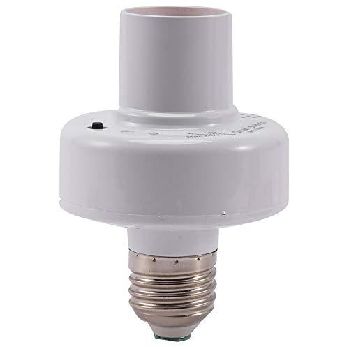 Fransande - Adaptador de bombilla wifi inteligente con base de soporte de lámpara AC Smart Life/Control Vocal inalámbrico Tuya con Alexa Home E27 E26 85-265 V