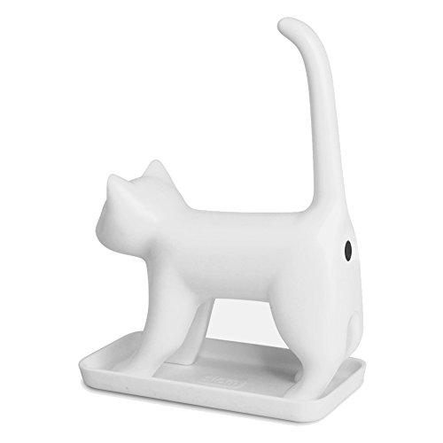 Splash Brands 8034-2 Bleistiftanspitzer Miauende Katze mit Sounds, weiß