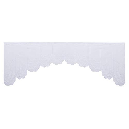 VOSAREA Cenefa de la Cortina de la Ventana de la Cocina Cenefa de la Ventana Transparente para Muebles de decoración de la Cocina del hogar (Blanco)