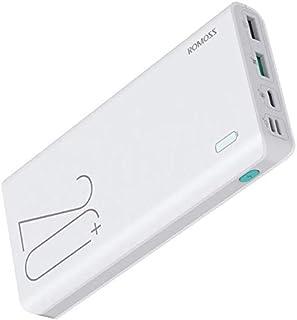 شاحن محمول محمول من ROMOSS Sense بقدرة عالية 200 مللي أمبير، شحن سريع 18 واط، يدعم هواتف iPhone، iPad، هواتف Android وأجهز...