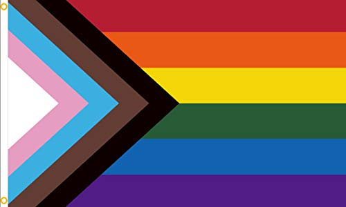 Coskaka Rainbow Gay Pride Flag - Pride Gay Pride Lesbian LGBT Pansexual Support Flag with Brass Grommets,Outdoor Sign House Banner Canvas Header Polyester Yard Lawn Outdoor Decor 3x5 Ft