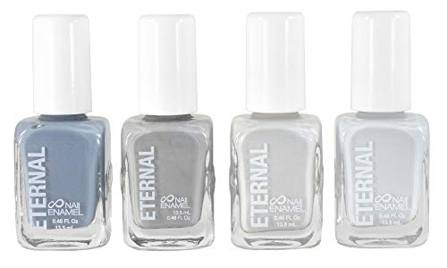 Eternal 4 Collection – Set of 4 Nail Polish: Long Lasting, Mirror Shine, Quick Dry, Neutral Colors (Minimalist)