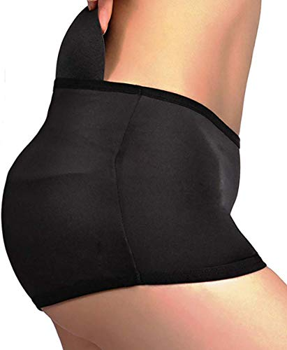 Women Padded Butt Lifter Underwear Pads Hip Enhancer Panties Shapewear Shaper Panty Underpants Seamless Control Briefs (Black, XL-)