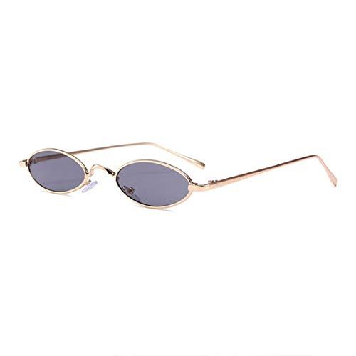 BiaBai Gafas de sol ovaladas pequeñas con diseño de moda para hombres y mujeres, gafas de protección UV con montura de metal Unisex de moda, gafas protectoras