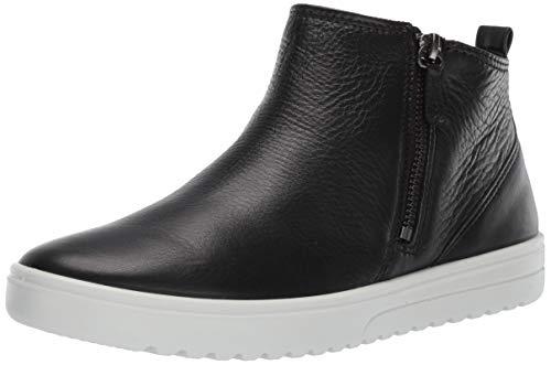 ECCO Women's Fara Ankle Zip Bootie Sneaker, Black, 38 M EU (7-7.5 US)