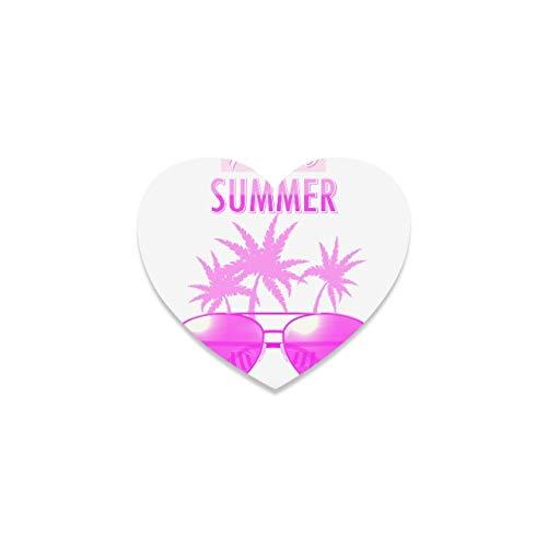 Estera de la Taza Posavasos únicos Gafas de Sol Creativas del Arte Pop Farmhouse Coaster Mug Posavasos de Coche Divertidos en Forma de corazón para apartamento Cocina Habitación Bar Decoración