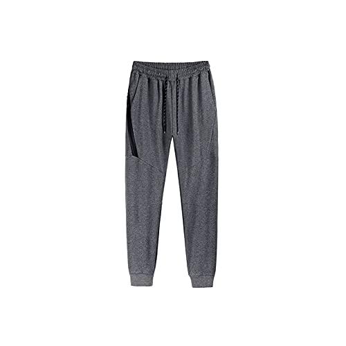 Wangchngqingmck Trabajo Pantalones Hombres, Pantalones de chándal,pantalones de chándal para hombre Algodón casual Pantalones de sudor sólido simple primavera otoño macho aptitud transpirable jogger p