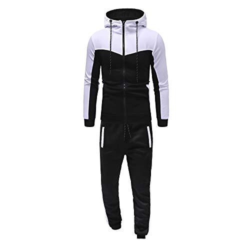 DeHolifer Casual Sportswear Sportswear Trainingshosen + Hoodie Herren Sportswear Fitness Wear Outdoor-Trainingsbekleidung Laufbekleidung Herrenanzüge Hausanzüge M/L/XL/XXL/XXXL