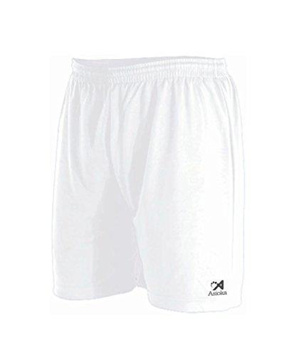 Asioka 230/16N Pantalón Corto Deportivo, Unisex niños, Blanco, XS (12-14)